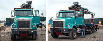 1997 Volvo with 92-ft Cormach boom