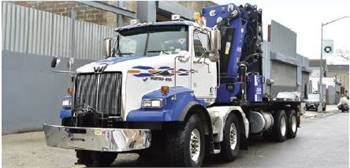 2017 Western Star with PM 100 series crane