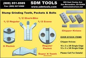 SDM Tools Stump Grinder Teeth & Pockets